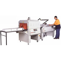 Semi Automatic L-Bar Sealer seal and shrink system